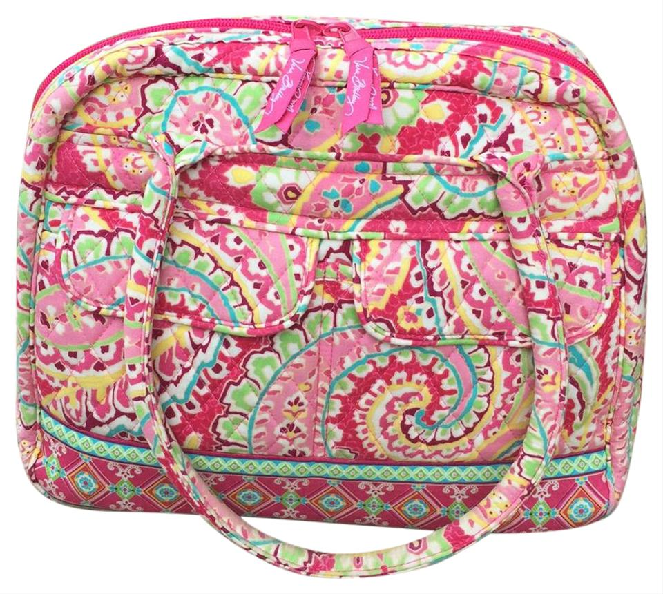 Quilted Fabric Vera Bradley Or Satchel Variety Of Shades Of Pink Quilted Fabric Tote