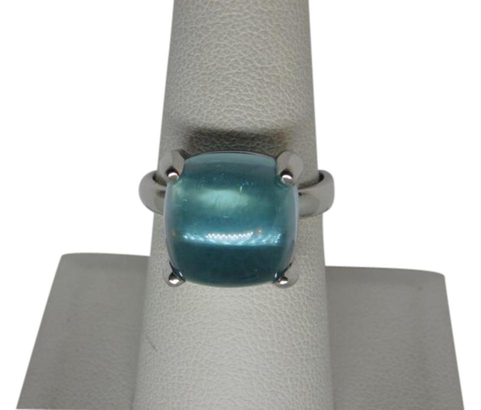 Paloma Picasso Tiffany Co Aquamarine And White Gold Paloma Picasso 8 00ct Sugar Stack 18k Sz7 Ring 15 Off Retail