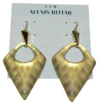 Alexis Bittar Gold Lucite Pointed Pyramid Drop Snakeskin ...