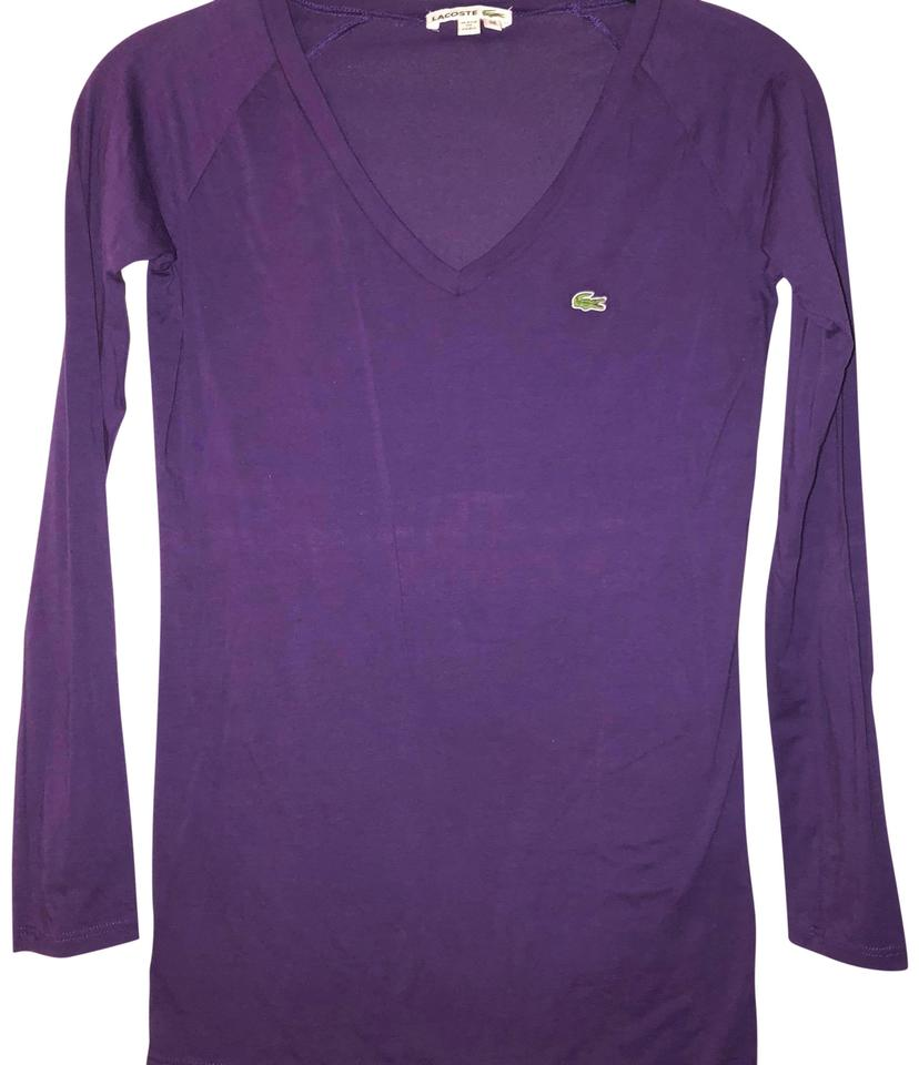 Xs Long Lacoste Purple Long Sleeve S Tee Shirt Size 2 Xs 68 Off Retail