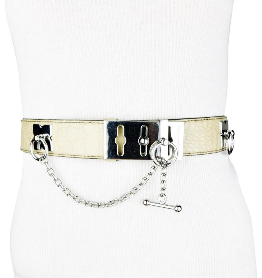 Toggler Alligator Bcbgmaxazria Beige Alligator Faux Leather Toggle Belt