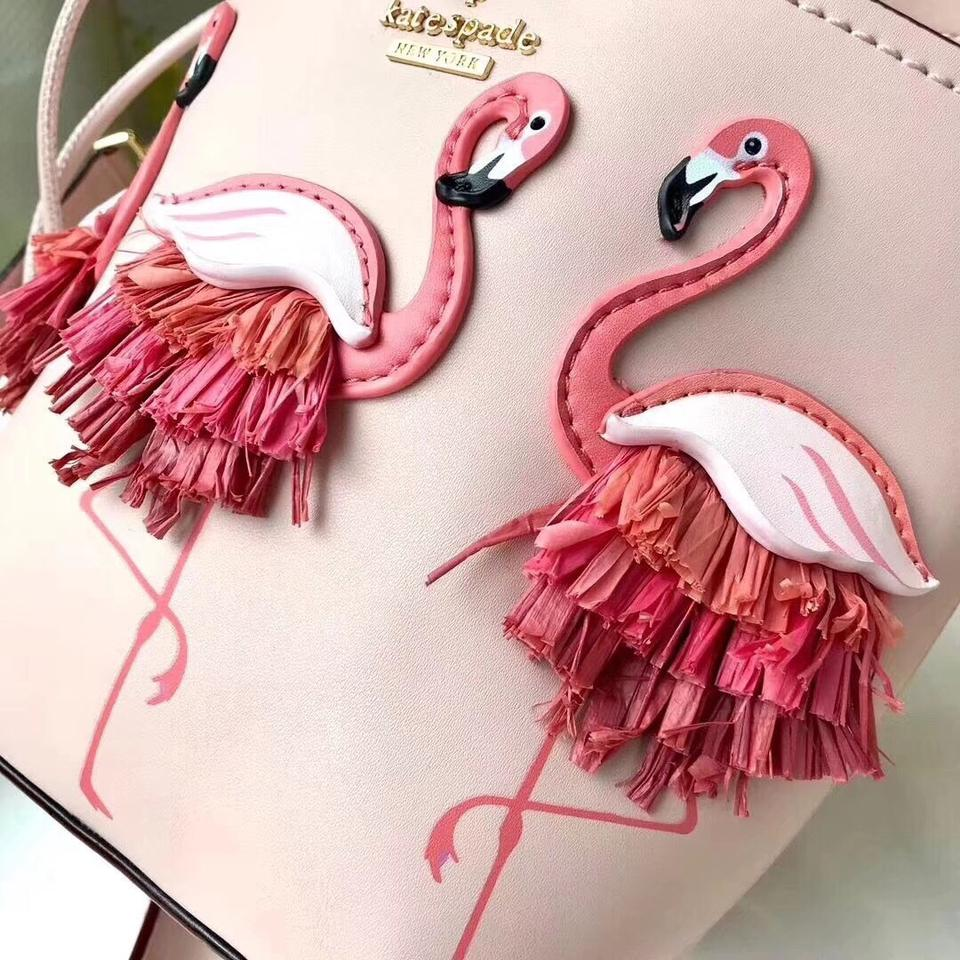 By The Pool Flamingo Kate Spade Kate Spade Pippa Flamingo Warm Vellum Pink Leather Cross Body Bag