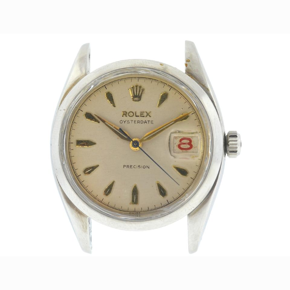 Stainless Rolex Rolex Stainless Steel 6494 Vintage Oysterdate Precision Circa 1946 Head Only Watch 54 Off Retail