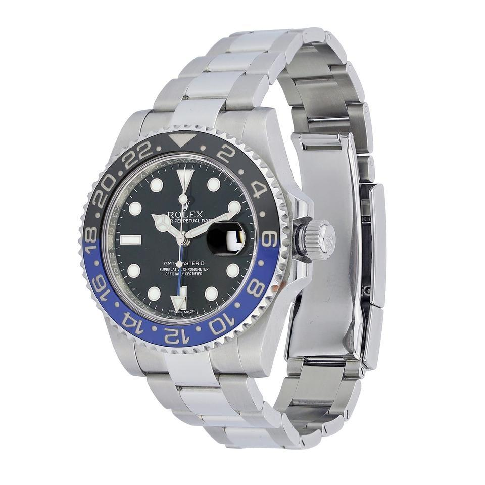Stainless Rolex Rolex Black And Blue Gmt Master Ii Stainless Steel Batman Watch