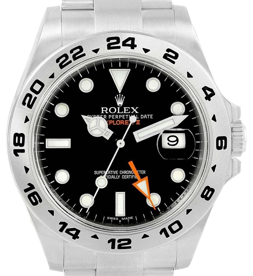 Rolex Explorer Rolex Black Explorer Ii 42 Mm Dial Mens 216570 Watch
