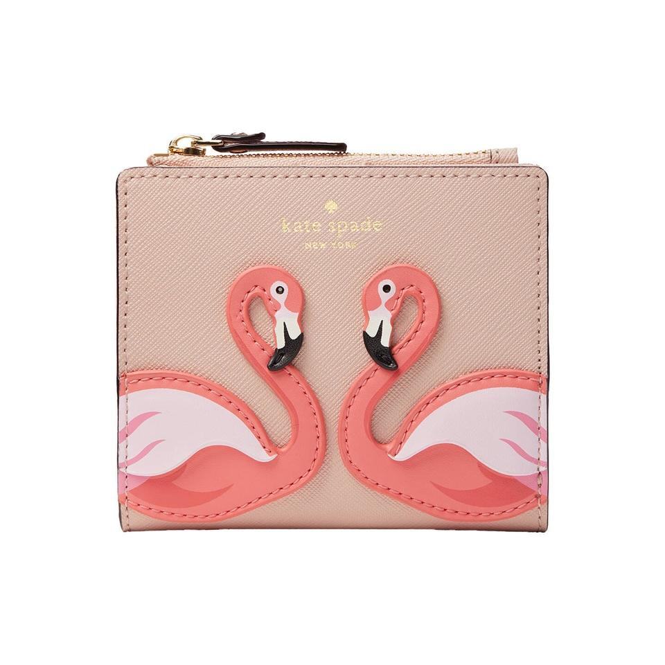 By The Pool Flamingo Kate Spade Kate Spade By The Pool Flamingo Adalyn Leather Wallet 13 Off Retail