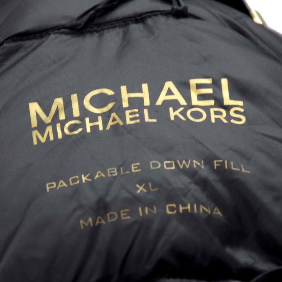 Xl Winter Michael Kors Black Quilted Zip Front Gold Hardware Coat Xl Winter Jacket Size 16 Xl Plus 0x