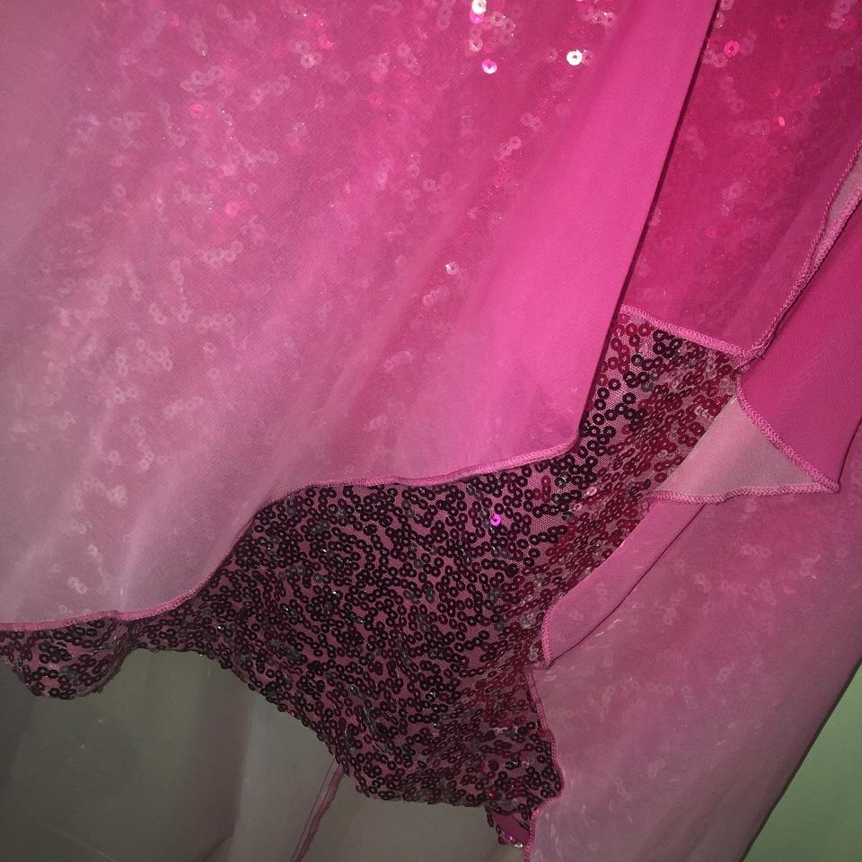Pink Sequin Curtains Pink Sequin Hi Lo Formal Dress