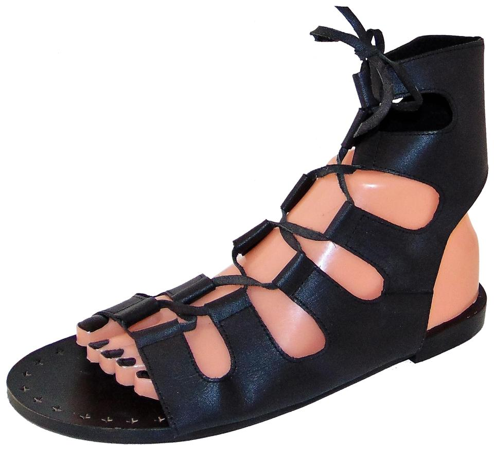 Sol Sana Black Gladiator Tay Sandals