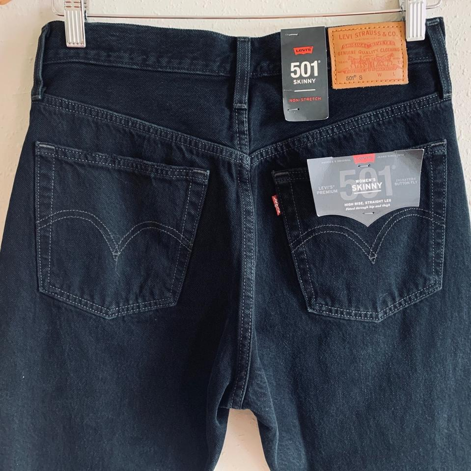 Levi Jeans 501 Levi S Distressed 501 Premium High Rise Jeans 26 Nwt Skinny Jeans Size 2 Xs 26 26 Off Retail