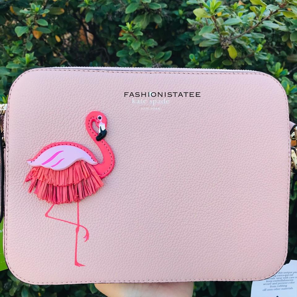 By The Pool Flamingo Kate Spade Kate Spade Camera New York Flamingo By The Pool Warm Vellum Cross Body Bag 24 Off Retail