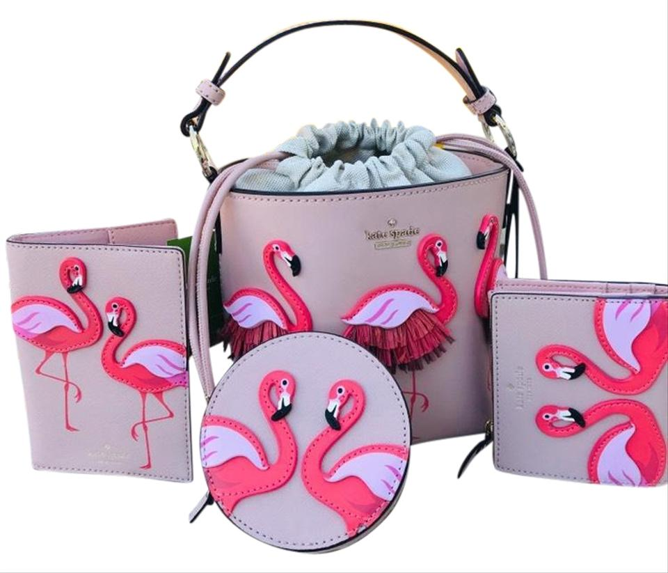 By The Pool Flamingo Kate Spade Kate Spade Bucket Flamingo Pippa By The Pool Wallet Coin Purse Passport Holder Set Warm Vellum Cross Body Bag 46 Off Retail