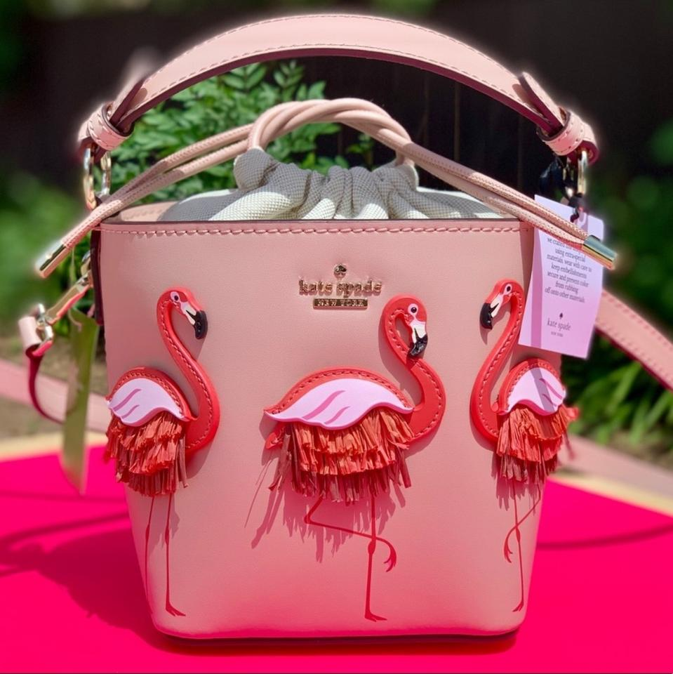 By The Pool Flamingo Kate Spade Kate Spade Bucket By The Pool Flamingo Pippa Warmvellum Leather Cross Body Bag 34 Off Retail