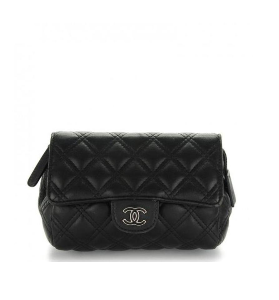 Mini Vs Woc Chanel Black Silver Classic Flap 2 55 Reissue Crossbody Easy Mini Woc Classic Cc Logo Chain Bag Wallet