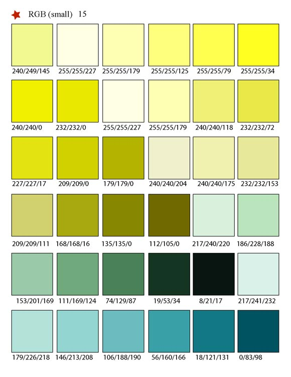 Printable RGB Color Palette Swatches - My Practical Skills My