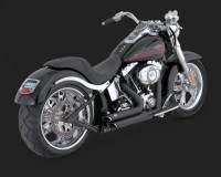 VANCE&HINES : Shortshots Staggered Black Full Exhaust ...