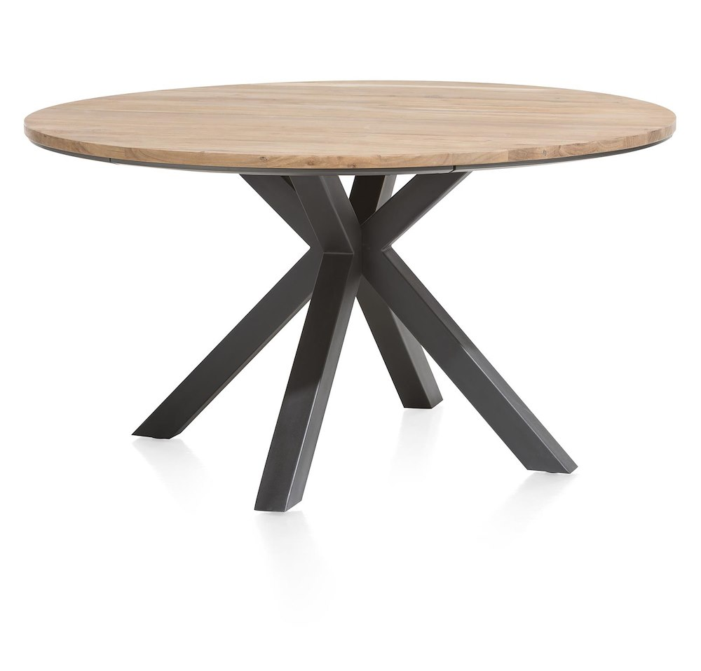 Xooon Tisch Colombo, Table Rond 150 Cm Chene Massif + Mdf