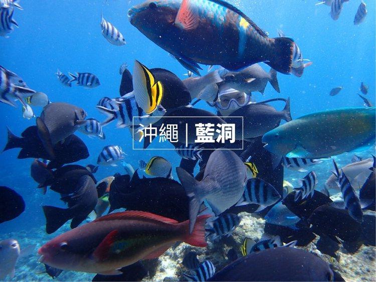 |沖繩藍洞,潛水浮潛推薦|青之洞窟屋,中文教練,新手也能放心遨遊海底