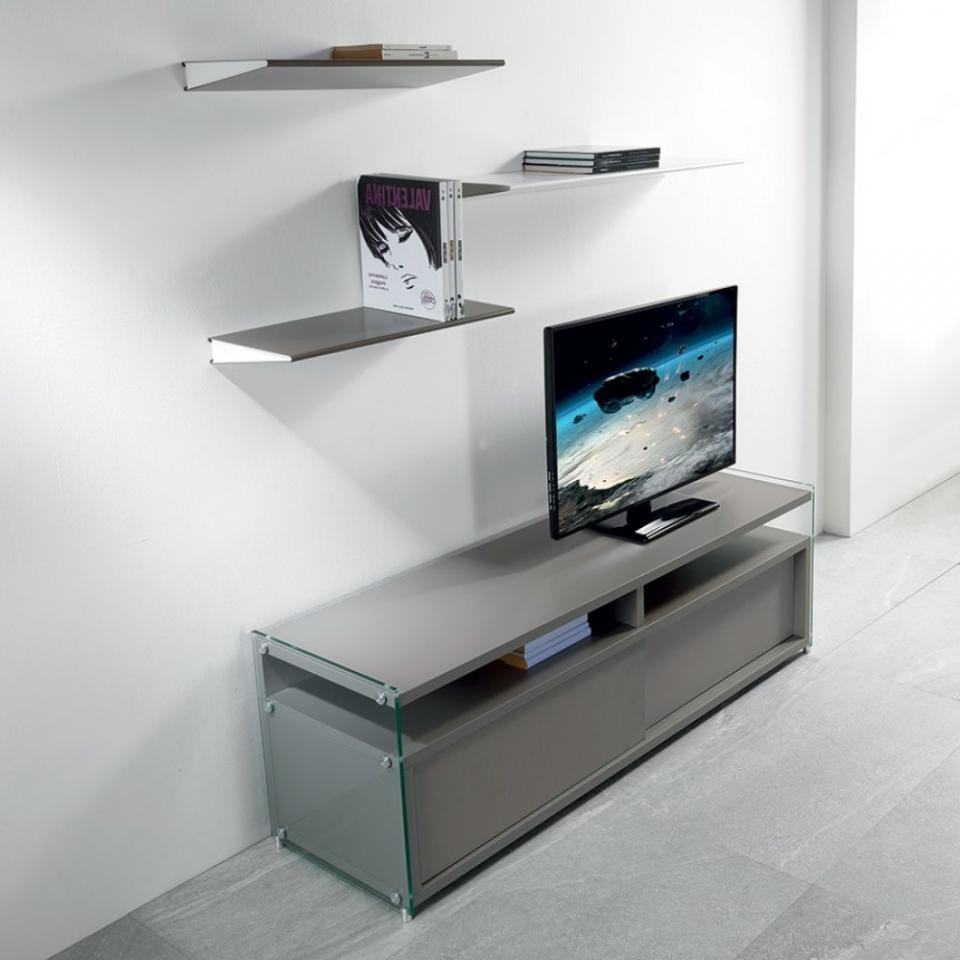 99d1862481efb6 Meuble Tv Porte Coulissante   Meuble Tv Moderne En Bois Blanc Et ...