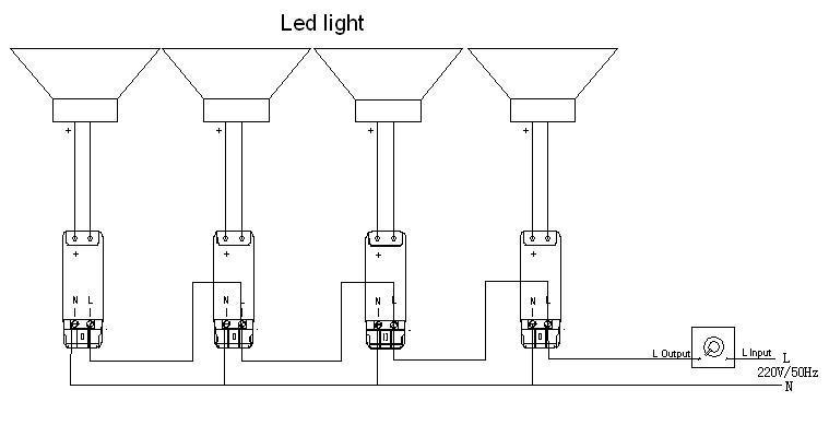 led diagrama de cableado 3
