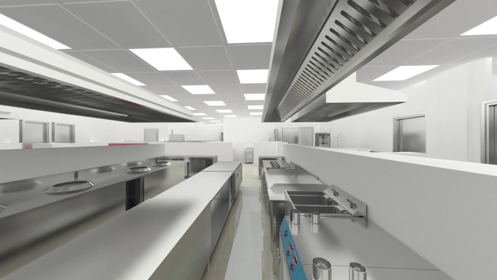 Commercial Kitchen 3d Design Cad Layout 3d Image Commercial Kitchen Design Buy Kitchen Design