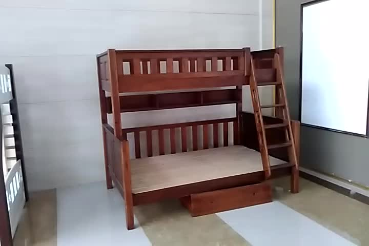 2017 New Solid Wooden Bunk Bed Designsimple Double Decker