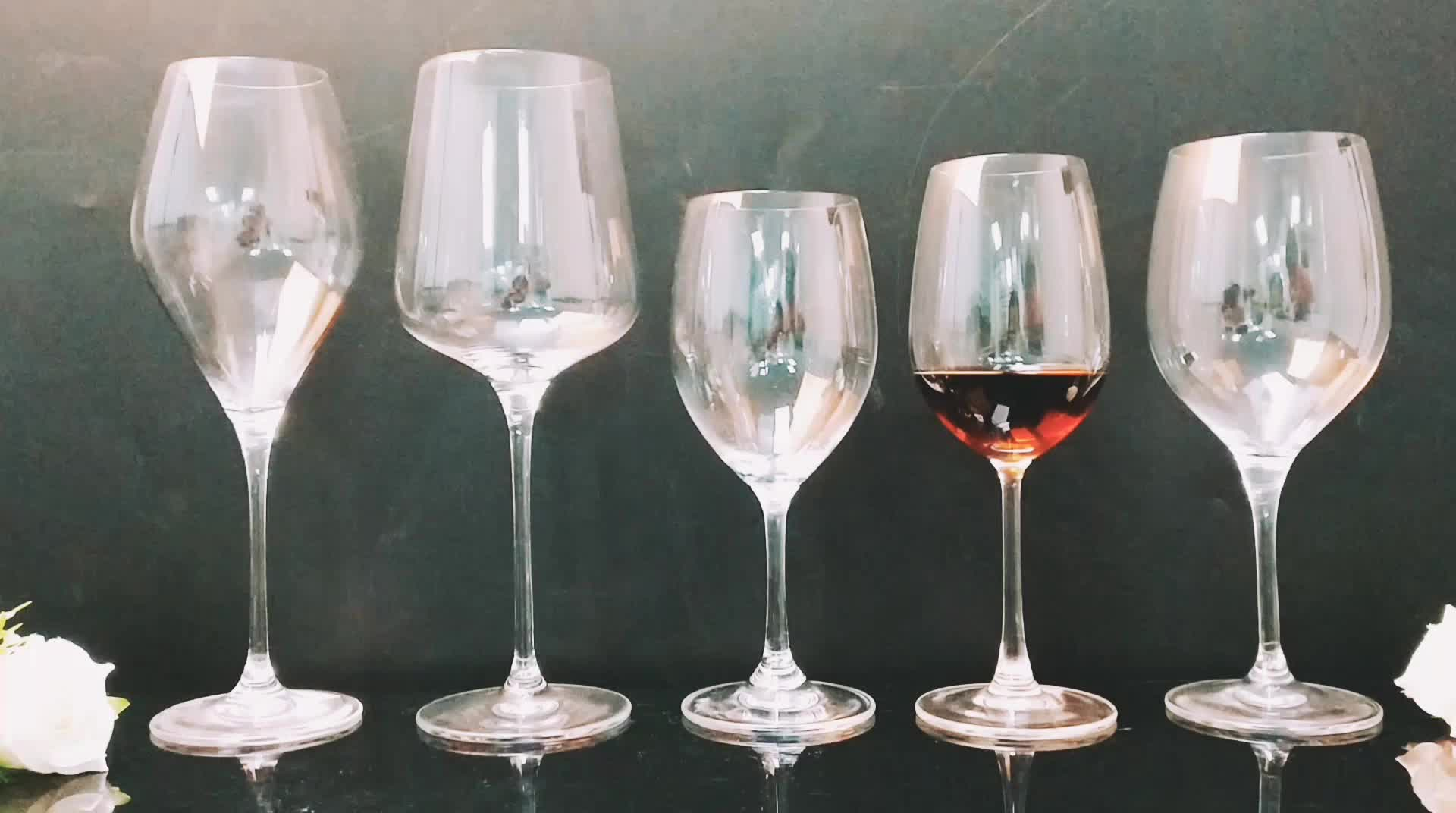 Affordable Wine Glasses Hand Blown Cheap Thick Stem Wine Glass Short Stem Glass