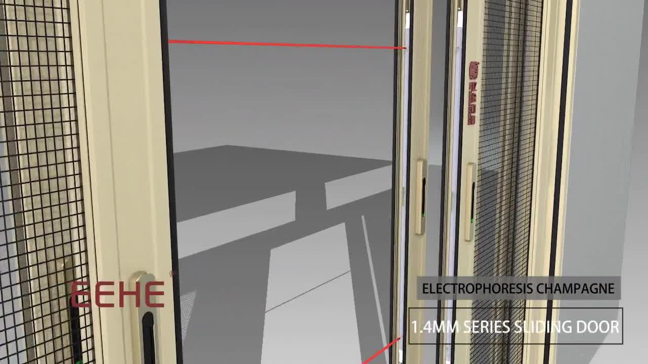 Living Room Wardrobe Aluminium Glass Door Designs