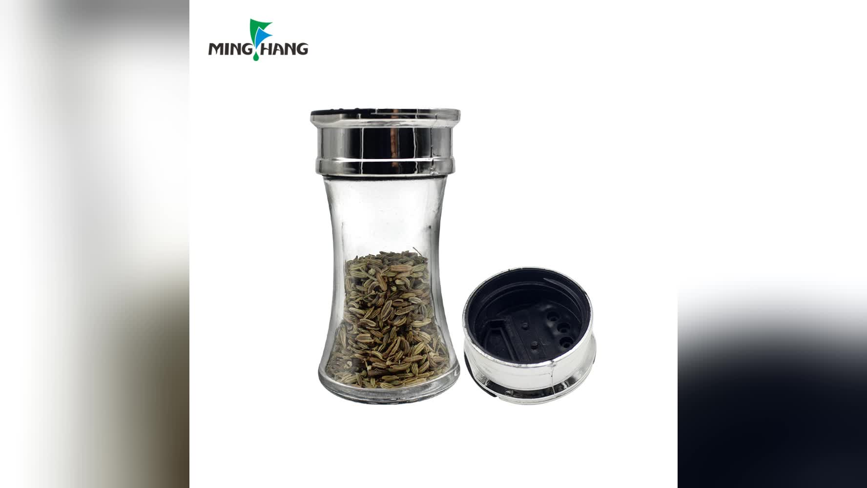 Cheap Salt Shakers 70ml Glass Spice Packaging Containers Jar Salt And Pepper