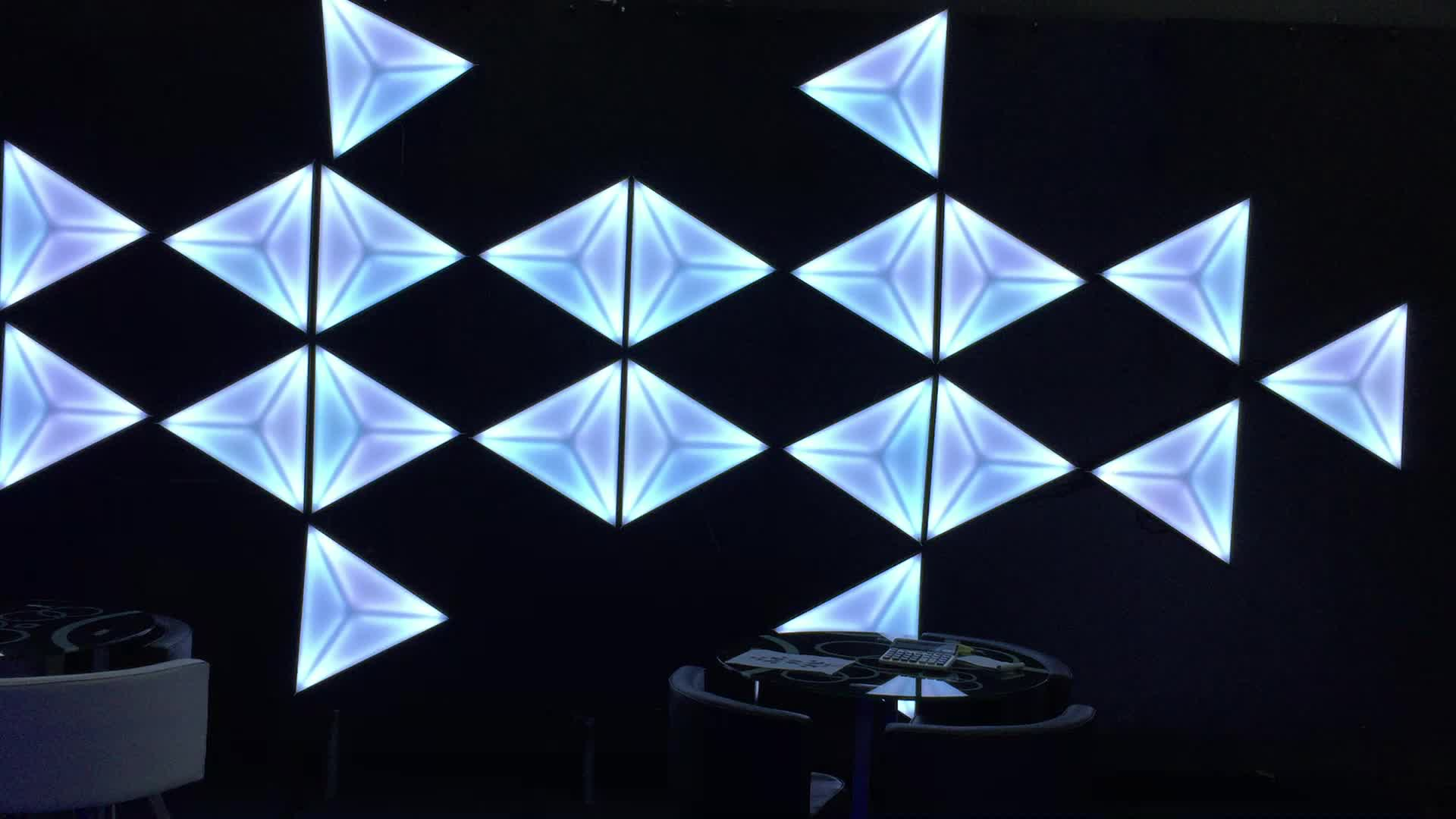 3d Dekoration Led 3d Stage Amazing Effect Triangle Background Wall