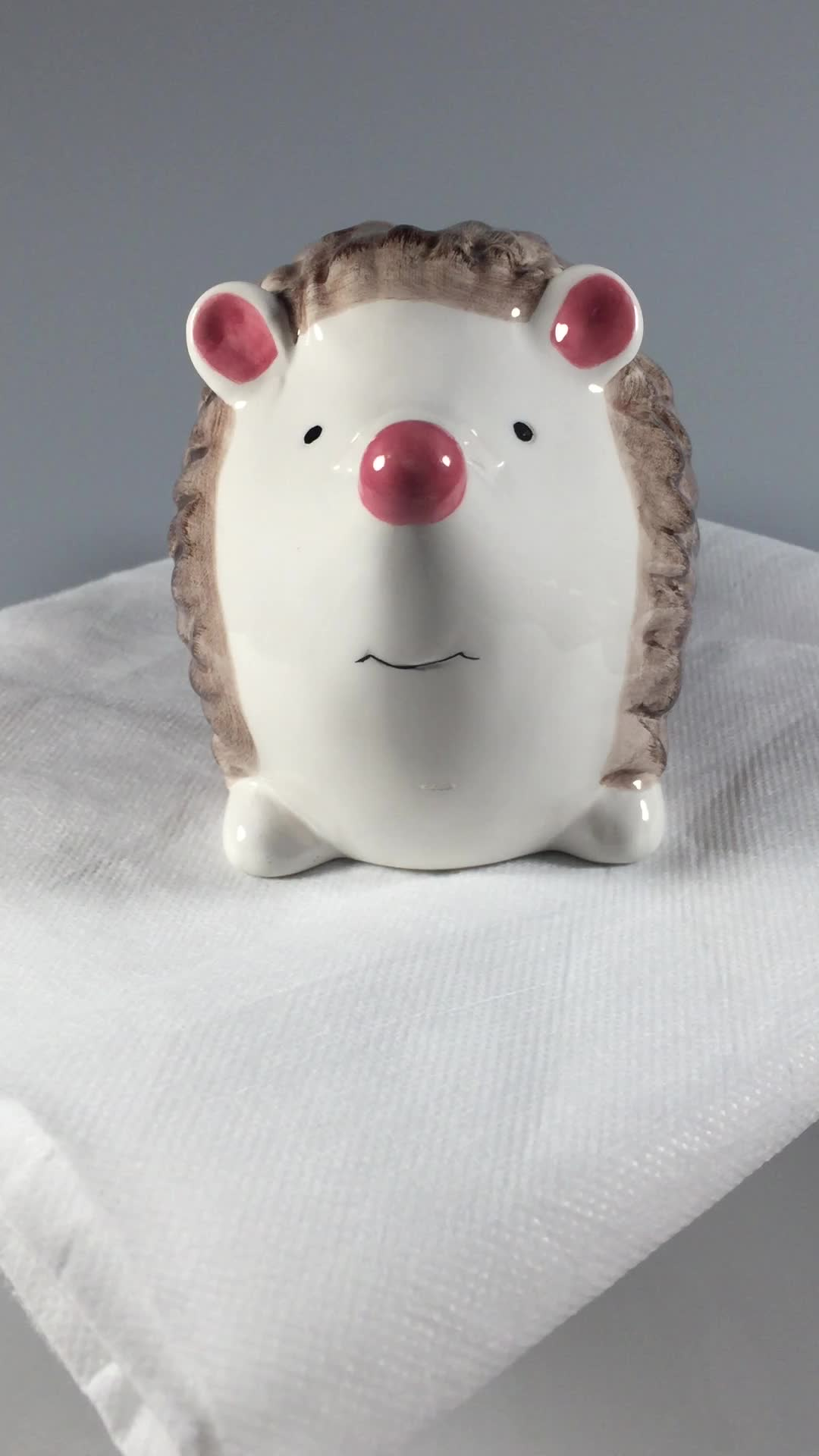 Animal Coin Banks Hot Sales Hedgehog Animal Shape Piggy Banks Coin Banks