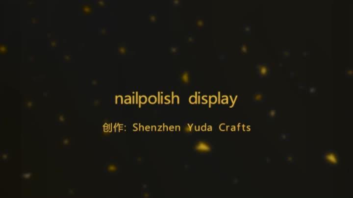 Custom Wall Mounted Nail Polish Display Holder Acrylic