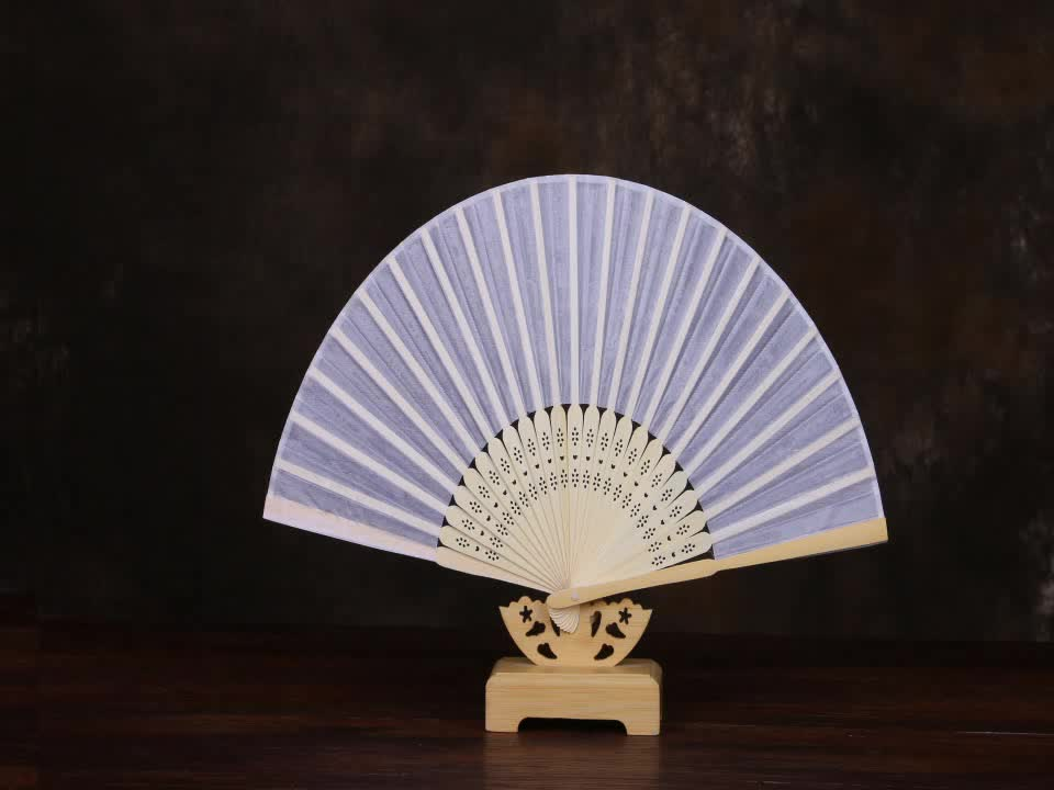 Chinese Cheap Plain Color Silk Fans For Sale Custom Hand