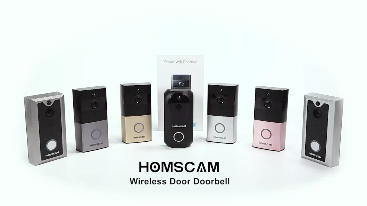 Deurbel Batterij Homscam Smart Batterij Wifi Ip Video Deurbel Ring Deurbel Camera Draadloze Buy Video Deurbel Wifi Video Deurbel Ring Deurbel Product On Alibaba
