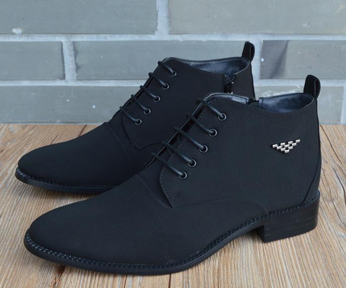 Fashion Mens Casual High Top Pointy Toe Chukka Dress Shoes