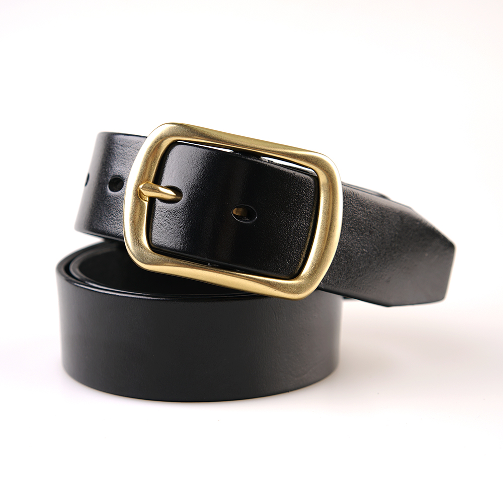 No Name Online Shop No Name Hand Made Men S Leather Belt Head Layer Business Wild Type Pin Buckle Belt Young Men Fashion Models