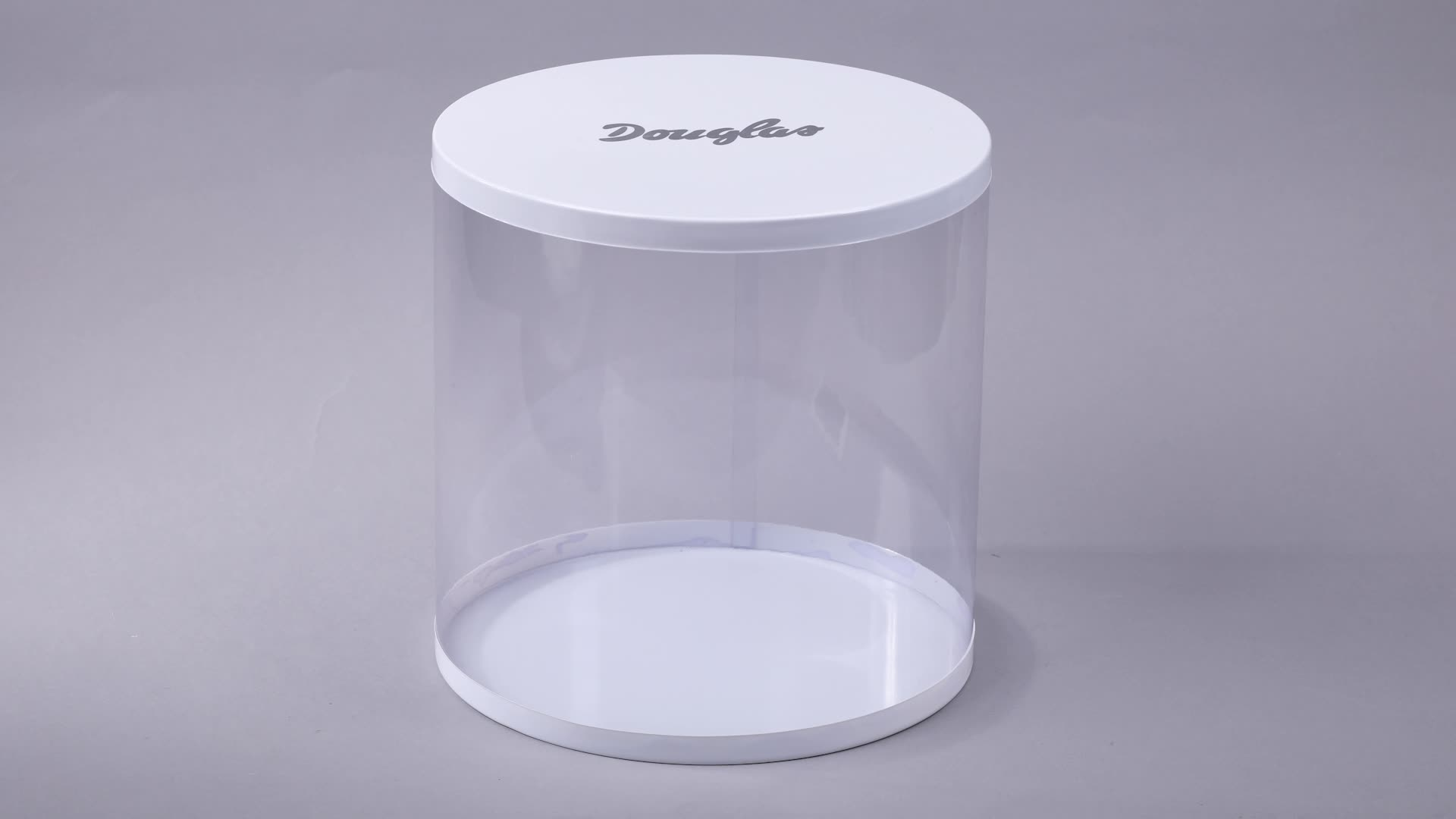 Clear Display Boxes Custom Cylinder Clear Plastic Display Cake Packaging Boxes