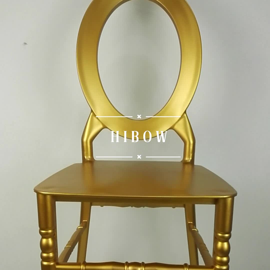 Luxury Chairs For Wedding New Style Stacking Hibow Furniture Gold Resin Chair
