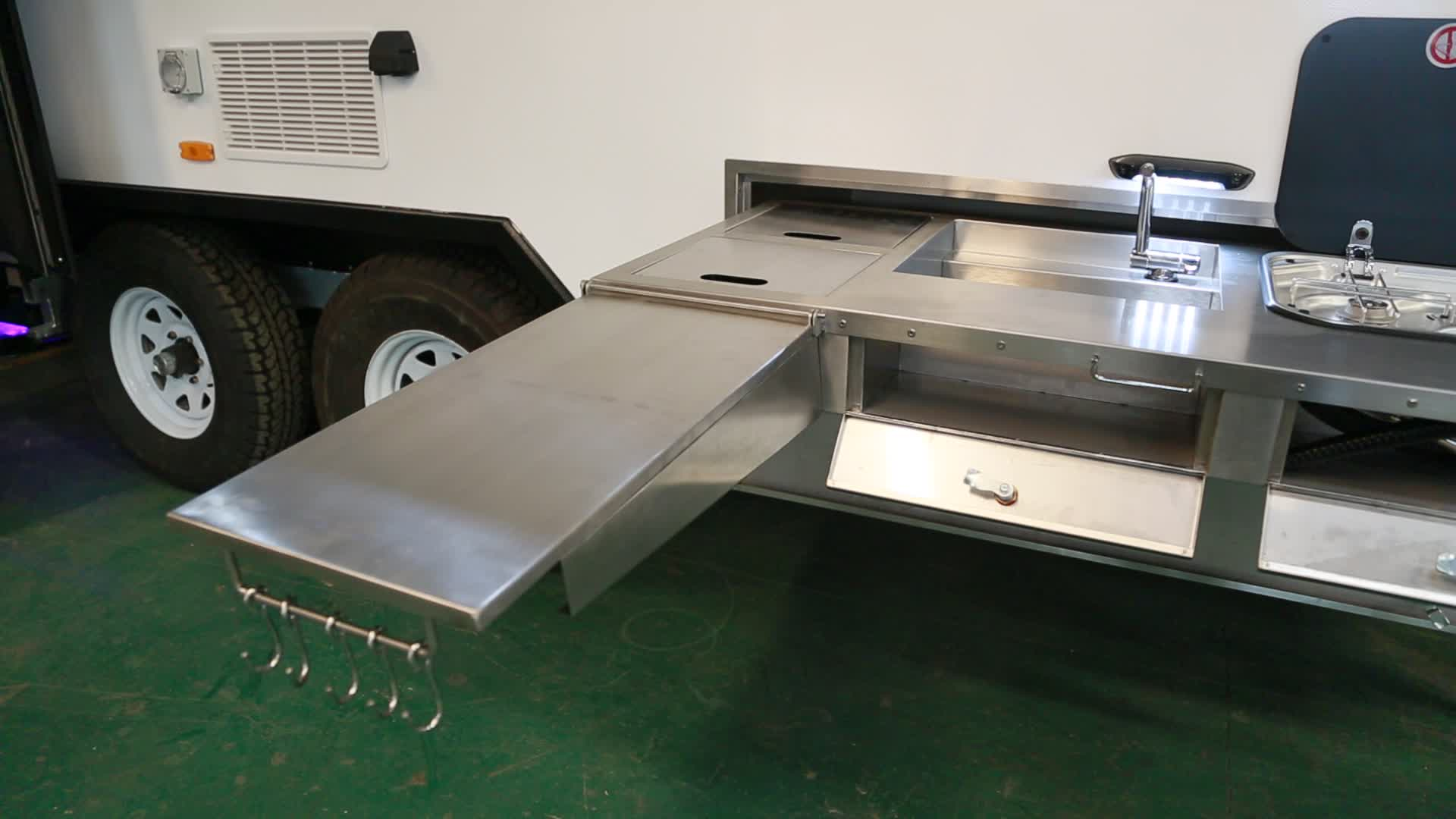 Caravan With Slide Out Kitchen Stainless Steel Slide Out Camper Kitchen Accessories With