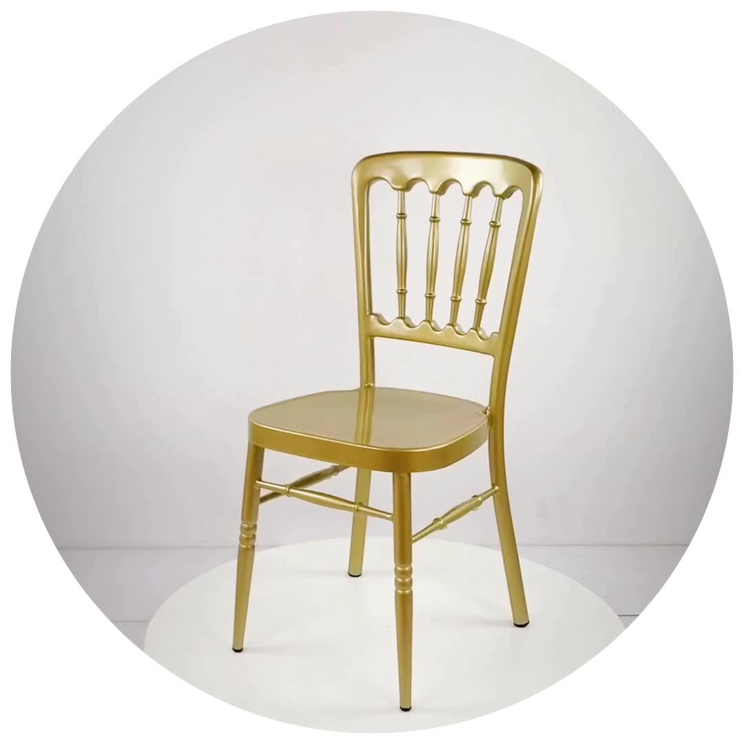 Luxury Chairs For Wedding Wholesale Luxury Event Rental Stacking Napoleon Chair Gold