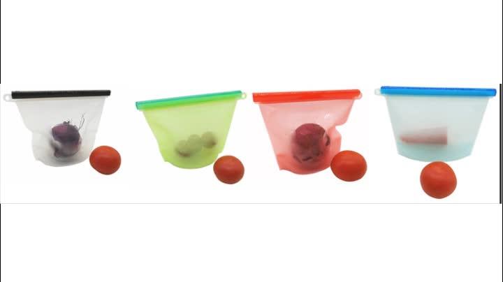 2018 Reusable Silicone Food Storage Bag Vacuum Bags Buy