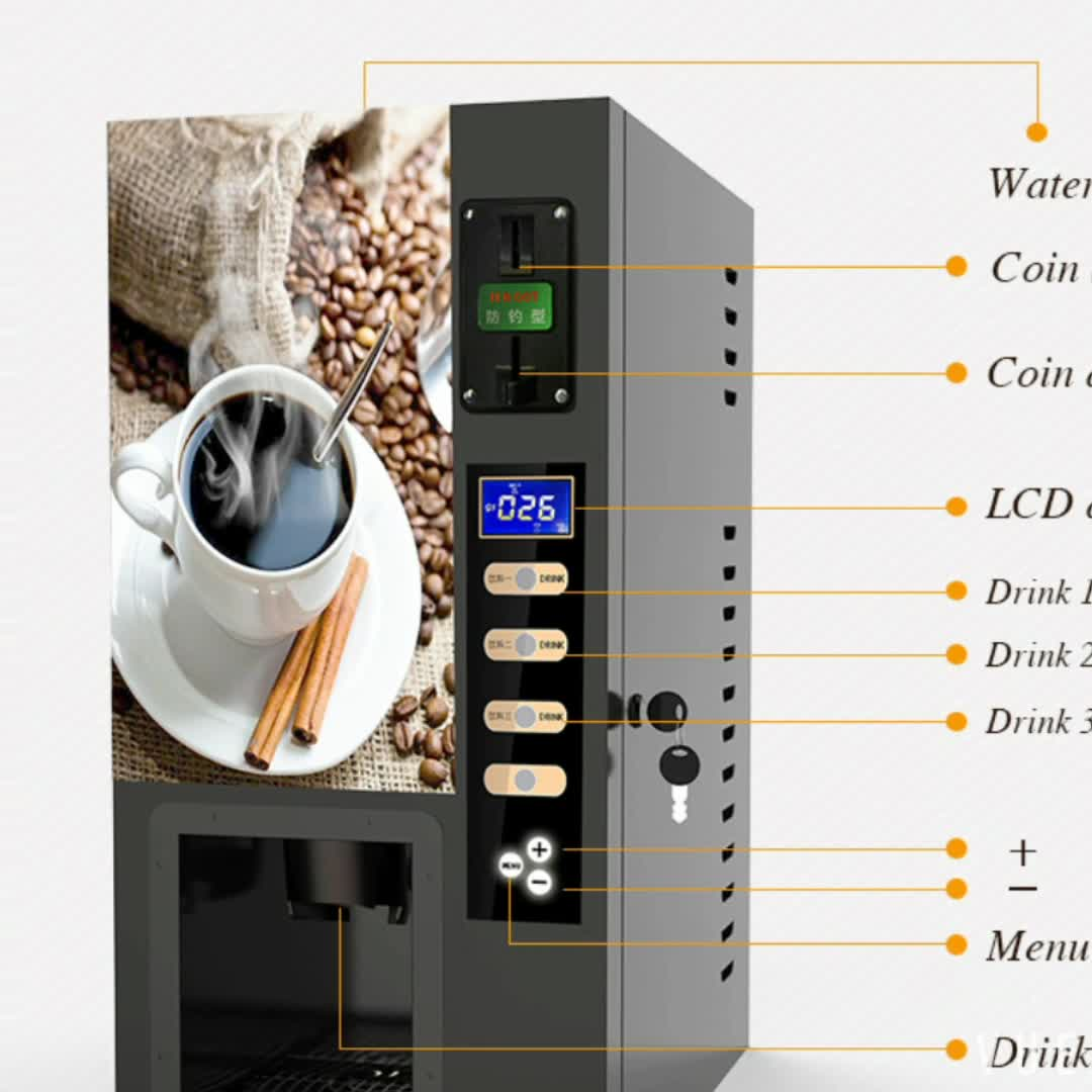Machine A Cafe Coin Operated Coffee Machine Coffee Cafe Vending Machine With Cup Dispenser Buy Coin Coffee Vending Machine Automatic Tea Coffee Machine Coffee Cafe