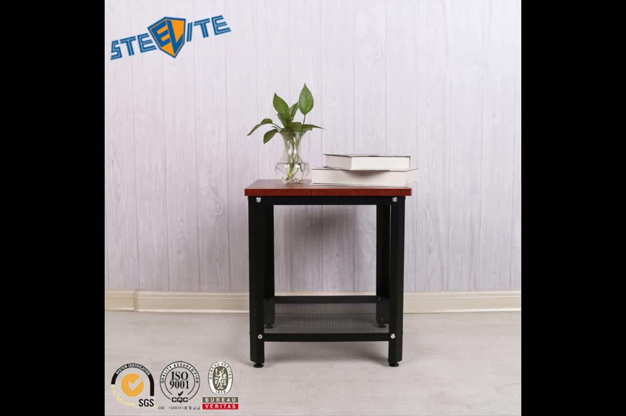 Modern Bed Stand Modern Bed Night Stand Wooden Board Steel Frame End Table