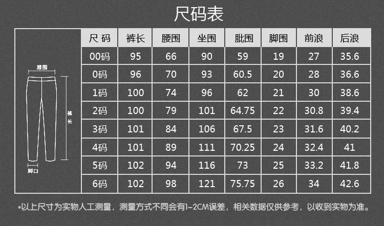 chinese \u003e english Pants size chart  translator