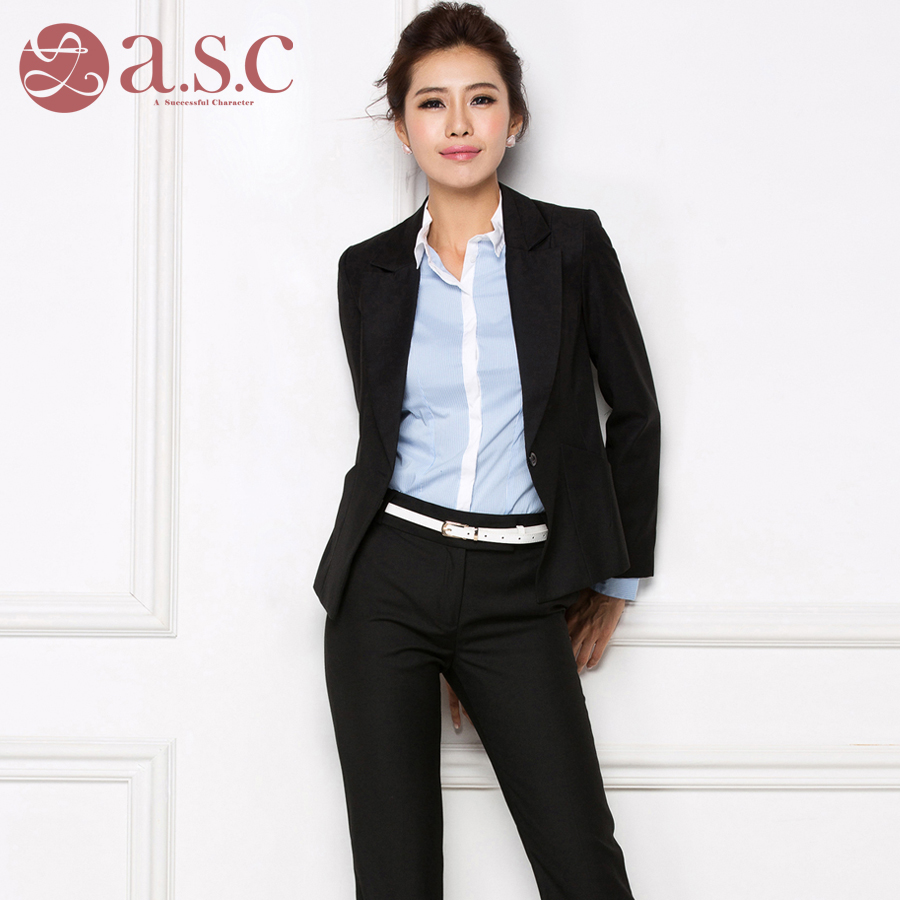 Clothing Ladies Online Shopping 2019 New Autumn And Winter Models Fitting Ladies Shirt Long Sleeved Professional Suit Suits Civil Servants Interview Clothing Women