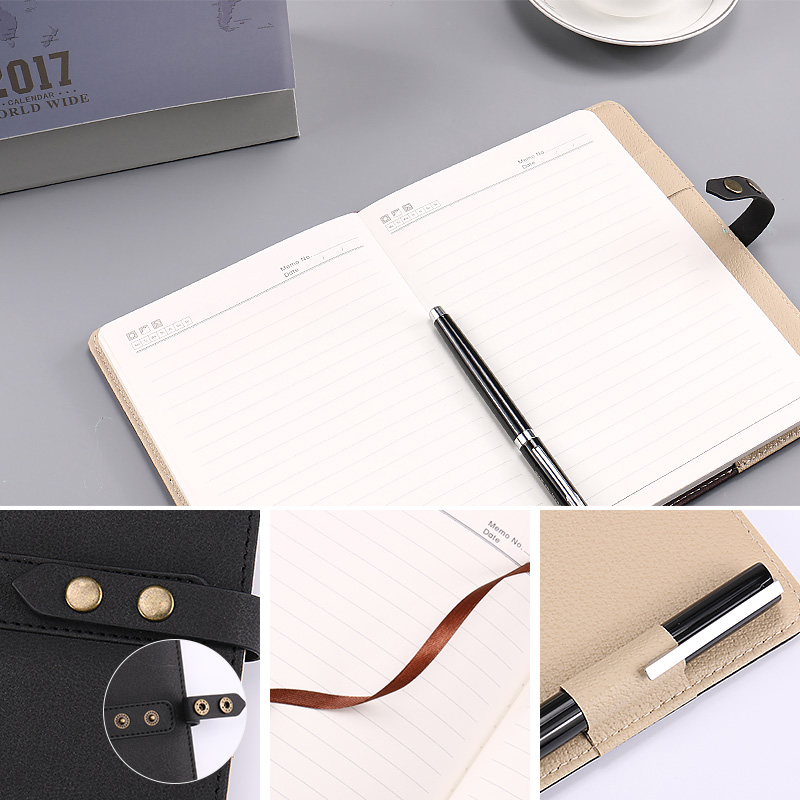 USD 1377 Business notepad meeting record notebook with buckle
