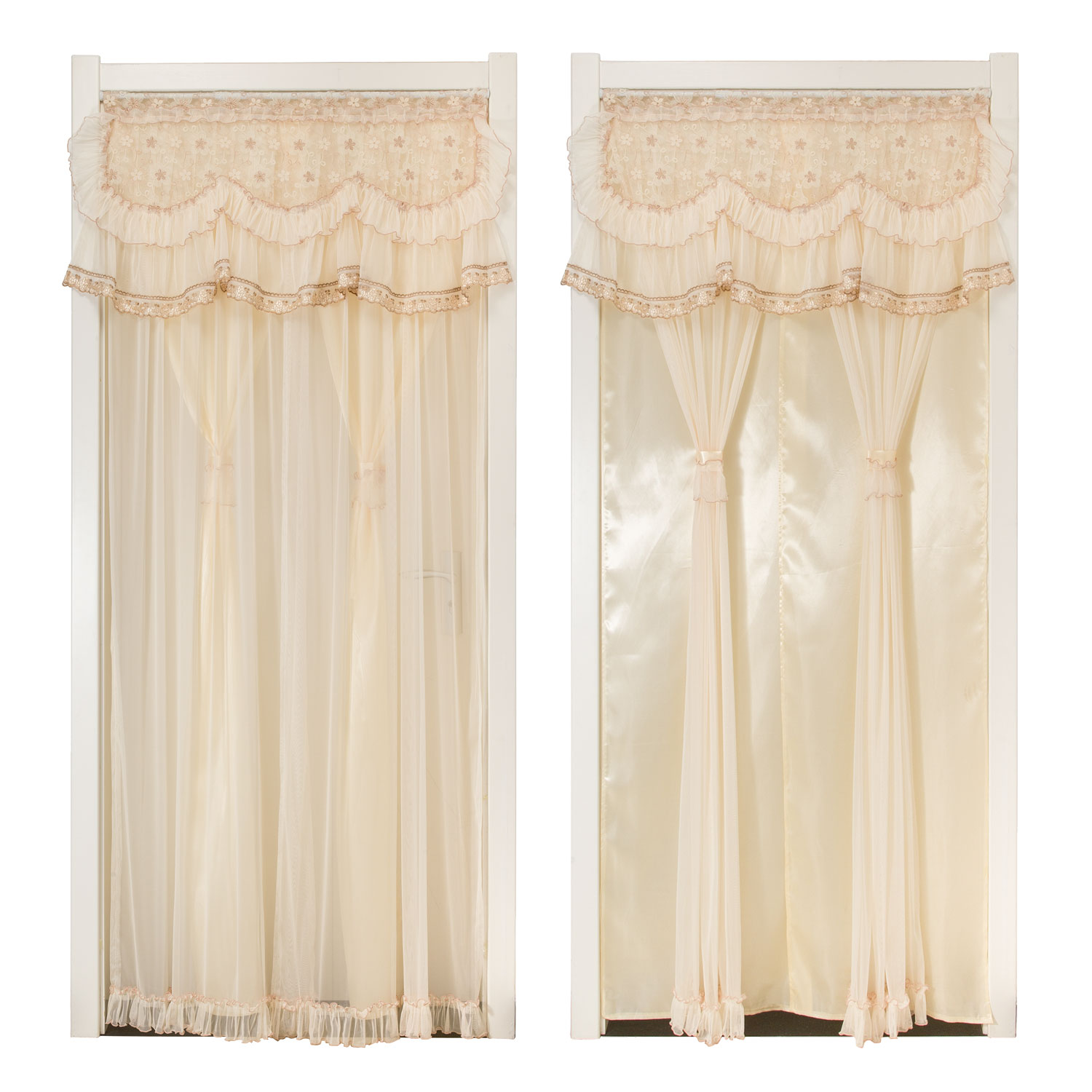 Privacy Curtain For Bedroom Curtain Fabric Pastoral Partition Curtain Bedroom Kitchen Bathroom Lace Double Feng Shui Curtain Privacy Curtain Can Be Customized