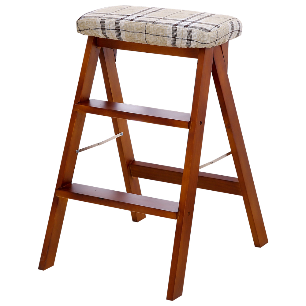 Portable Stool Solid Wood Creative Folding Stool Simple Folding Ladder Stool Kitchen Stool Portable Stool Folding Home Bench High Stool