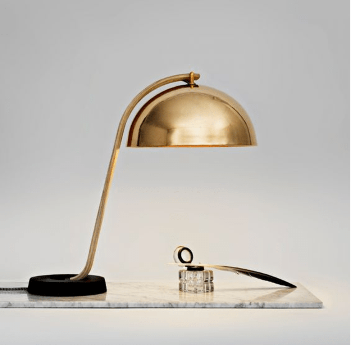 Hay Lamp Hay Domestic Purchasing Nordic Denmark Home Cloche Table Lamp Brass Metal Minimalist Table Lamp