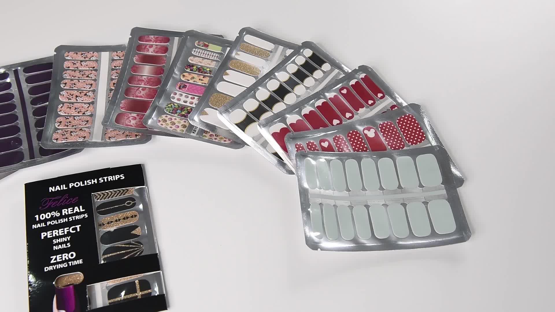 Wholesale Non Toxic Nail Sticker Nail Polish Wraps Nail